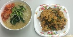 キムチたっぷりビビンバと冷麺