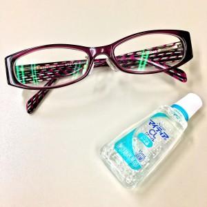 眼鏡と目薬