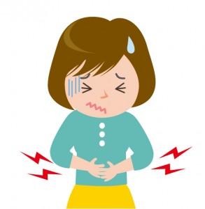 胃潰瘍の女性