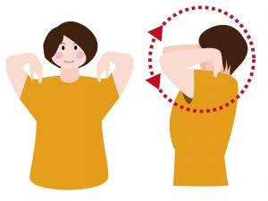 肩甲骨の可動域