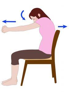 肩甲骨の開閉運動