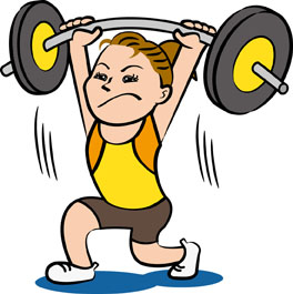 重量挙げをする女性