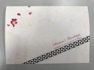 トンガ王国の国花がモチーフになったグリーティングカード
